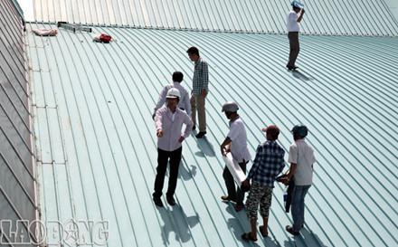 Kim chống sét làm chống sét cho nhà mái tôn