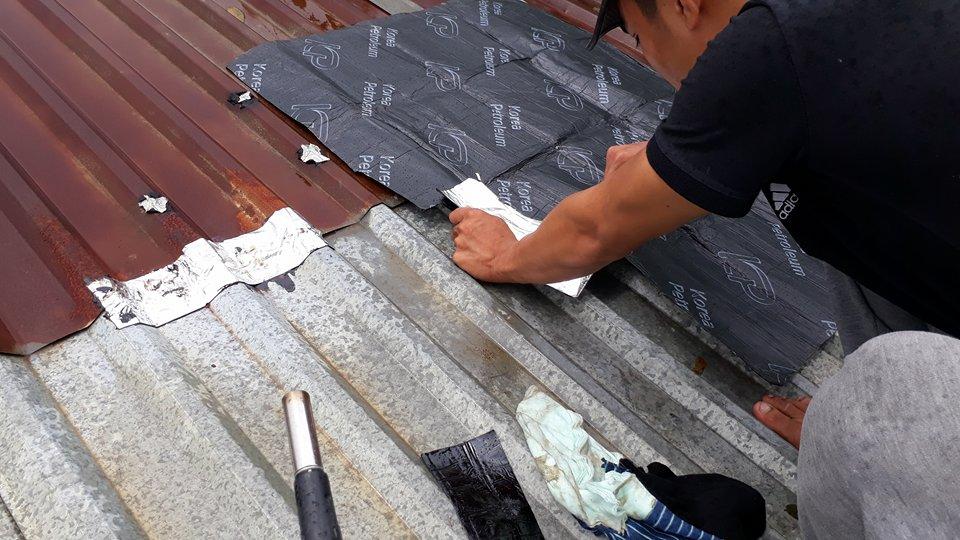 Image result for dột mái tôn